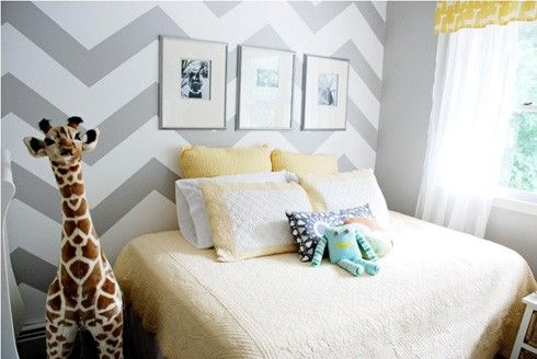 Want to do grey chervon curtains similar to wall