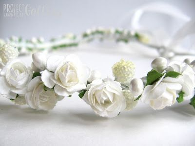 ProjectGallias:#projectgallias, flower hair garland, wedding, flower girl, holly communion, kwiatowy wianuszek na głowę, ślub, komunia, 100% handmade