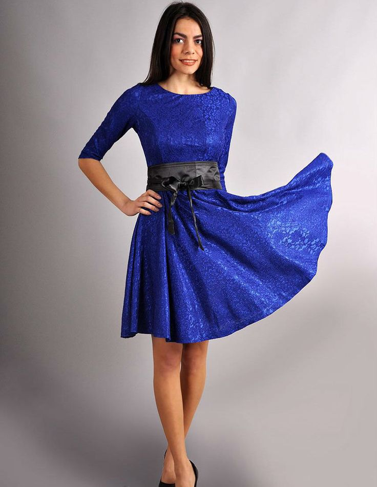 Original blue  dress with a bow. Autumn dress for woman. Wedding party dress. by Annaclothing on Etsy https://www.etsy.com/listing/205095531/original-blue-dress-with-a-bow-autumn