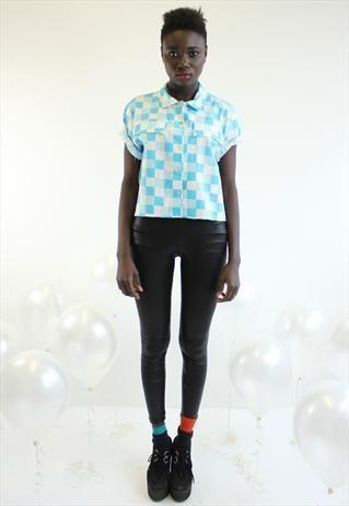 Vintage '80s Top Shop Cropped Check Shirt   #vintage #topshop