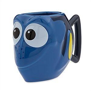 Disney Dory Mug - Finding Dory | Disney StoreDory Mug - Finding Dory - It will be easy to remember the forgetful Dory when drinking from this adorably cute ceramic mug. Sculpted into the form of the star of Disney%u2022Pixar <i>Finding Dory</i>, it's a fish out of water looking for a home.