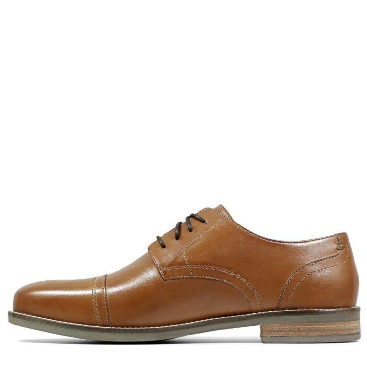 Nunn Bush Men's Chester Medium/Wide Cap Toe Oxford Shoes (Cognac Leather)