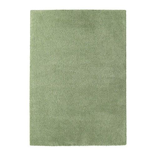 High Quality Stain Resistant High Pile Rug, (Light green) - 133x195 cm