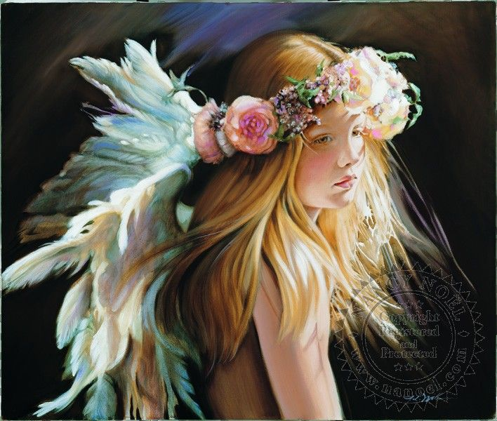 ❥ Angel of the Arts by Nancy Noel {the color of her wings!}