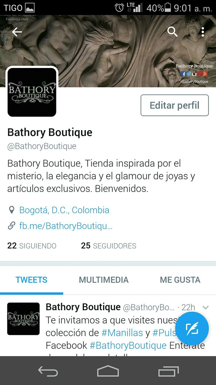 Buenos días, los invitamos a que también nos sigan en #Twitter !!! @BathoryBoutique #BathoryBoutique