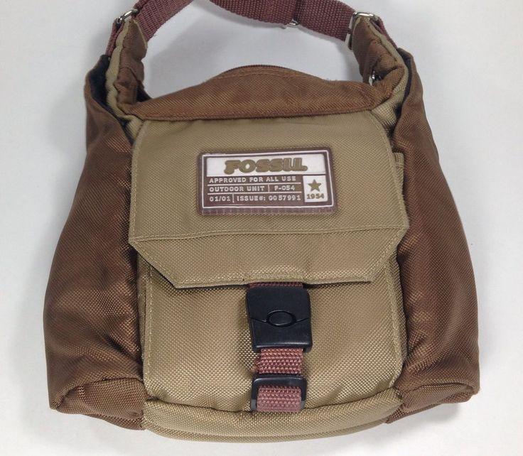 buy hermes birkin bag - Fossil Outdoor Unit 1954 Brown & Tan Crossbody Purse Shoulder Bag ...