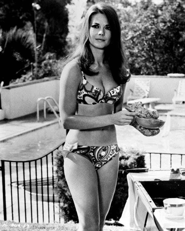 Natalie Wood in Patterned Biki... is listed (or ranked) 2 on the list The 26 Hottest Natalie Wood Photos