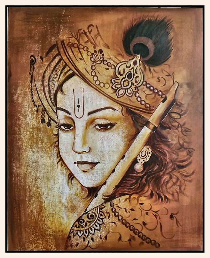 #Acrylic #canvas #krishna #painting #tasveer