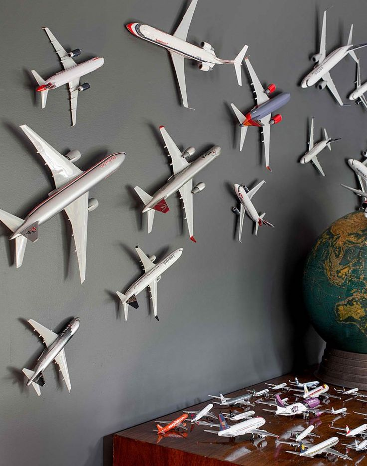 Da'Plane...Da'Plane!! But seriously my son would Love having a room with all these planes everywhere!!!