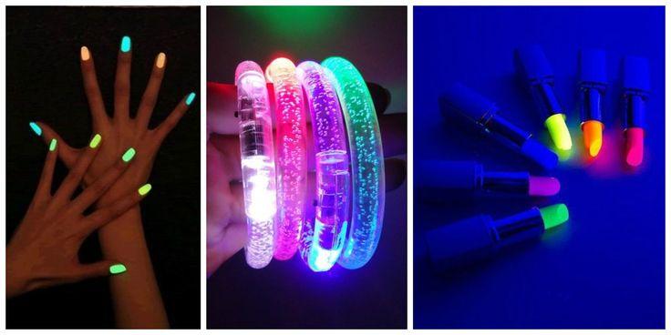 Neon Party Accessories #neon #party #nails #ideas #fiesta #15años #bodas #cumpleaños #birthday