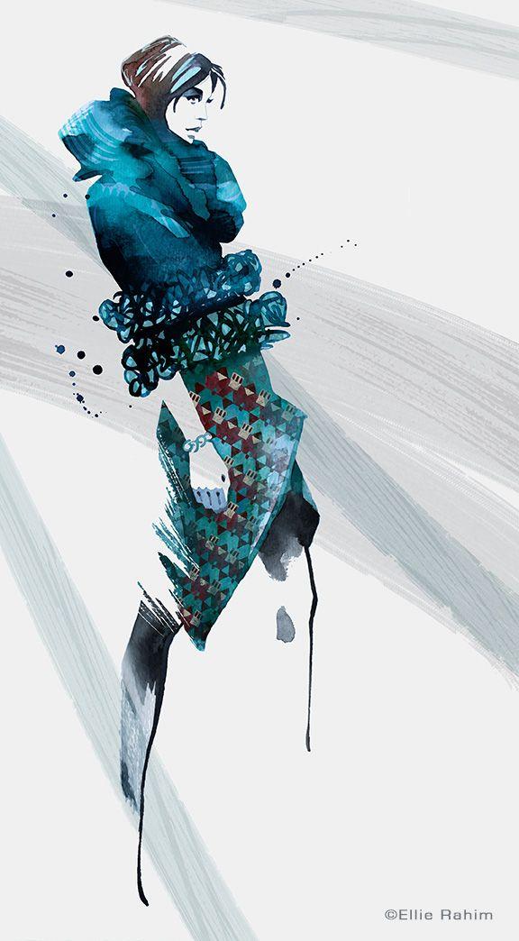 Fashion Illustration by Ellie Rahim http://www.gngmagazine.co.uk/ellie-rahim-illustrations/