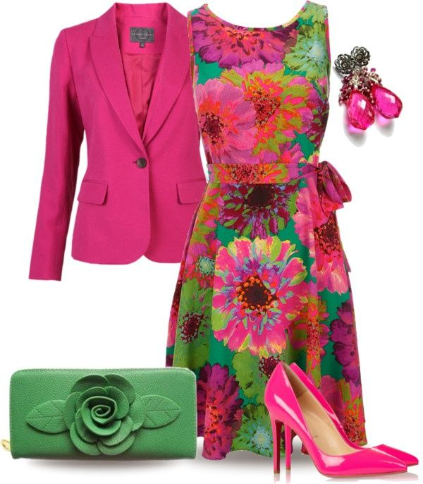 """""""Floral Dress"""" by yasminasdream ❤ liked on Polyvore"""