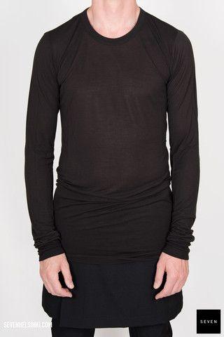 Rick Owens BASIC LONG SLEEVES T - black 187 € | Seven Shop