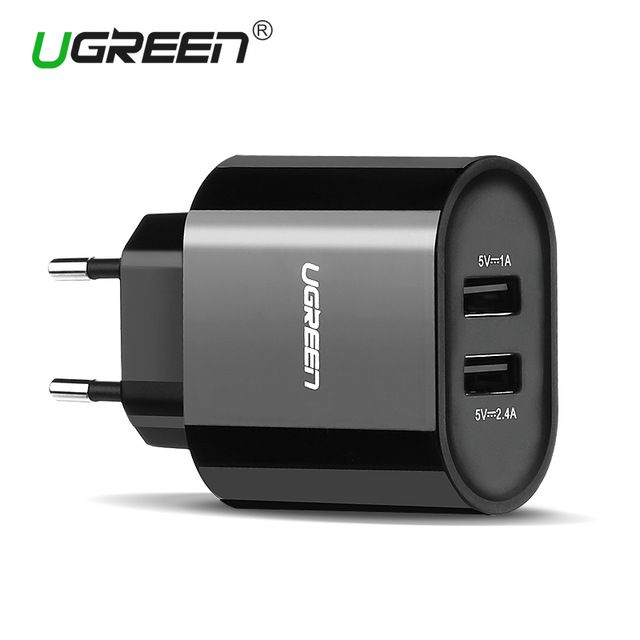 Ugreen USB Charger 5V3.4A Universal Portable Travel Wall Charger Adapter Samsung EU Plug Mobile Phone Charger for iPhone Laptop