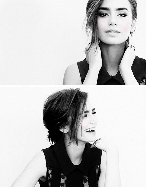 lily collins. My role model