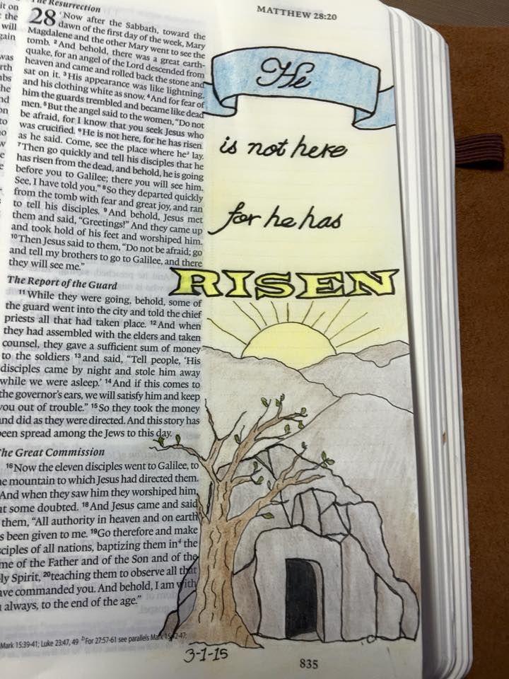 He is not here for he has risen. Matthew 28:20