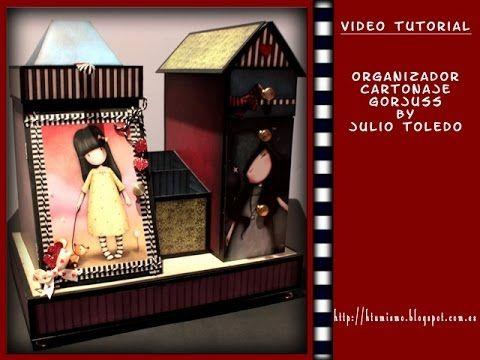 Tutorial Organizador cartonaje Gorjuss by Julio Toledo