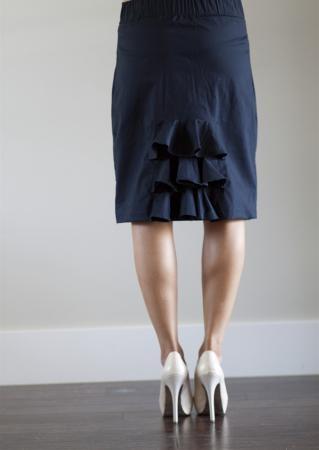 Ruffle pencil skirt!