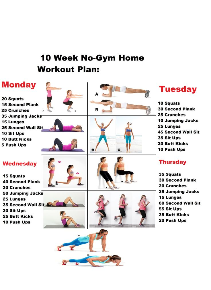 Best week no gym workout ideas on pinterest