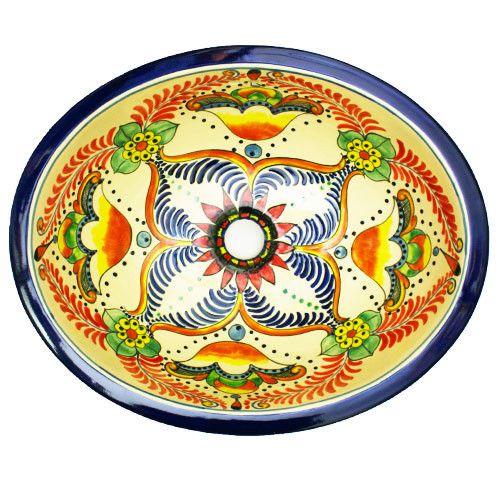 Traditional Mexican Sink- Flor De La Pasion – Mexican Tile Designs