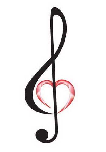 Heart treble clef.