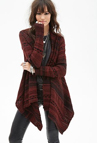Marled Tribal Patterned Cardigan | FOREVER21 - 2053126163