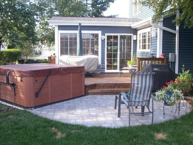 Hot Tub Deck Pavers Home And Garden Pinterest Hot