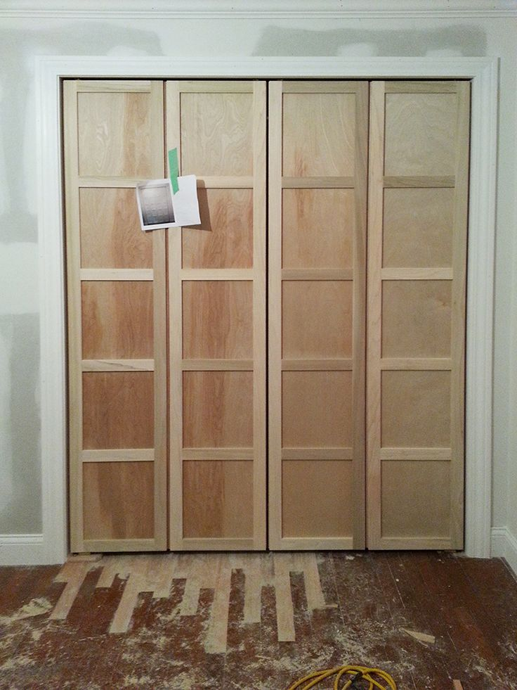 Paneled Bi Fold Closet Door DIY