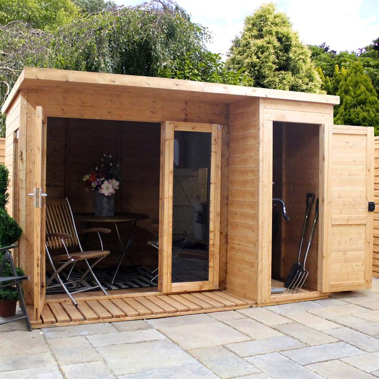 Mercia 10x8 Garden Room with Side Shed   ACHICA