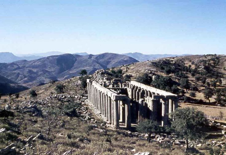 CLASSICAL: The Temple of Apollo: It set on a ridge, part of the landscape.  As a result it is not in the common orientation (E/W).. It is along the N/S axis.