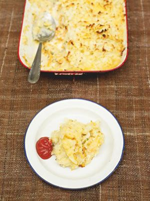 This is a fantastically simple fish pie which doesnt involve poaching the fish or making a tedious white sauce. Loads of good, fragrant veg are added quickly by grating them in. You can use whatever fish you like, making this as luxurious as you want it to be. If you like your fish pie to be creamy, feel free to add a few tablespoons of crème fraîche to the fish.