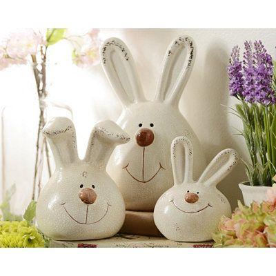 Terra Cotta Bunny, Set of 3 | Kirkland's