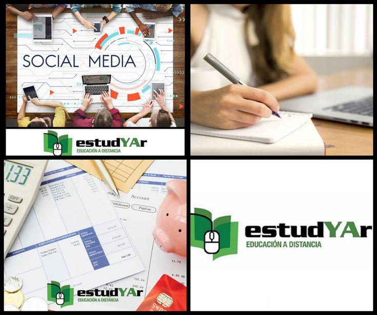Capacitate en #Comunity manager, #Diseño, redaccion y organizacion de tesis, #Liquidacion de sueldos o elegí entre nuestra gran variedad de cursos que tenemos disponibles para vos en http://estudyar.com/