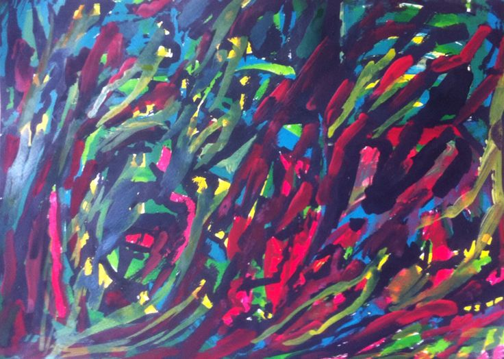 """""""Trampa de colores"""" Chinese ink and acrylic on paper."""