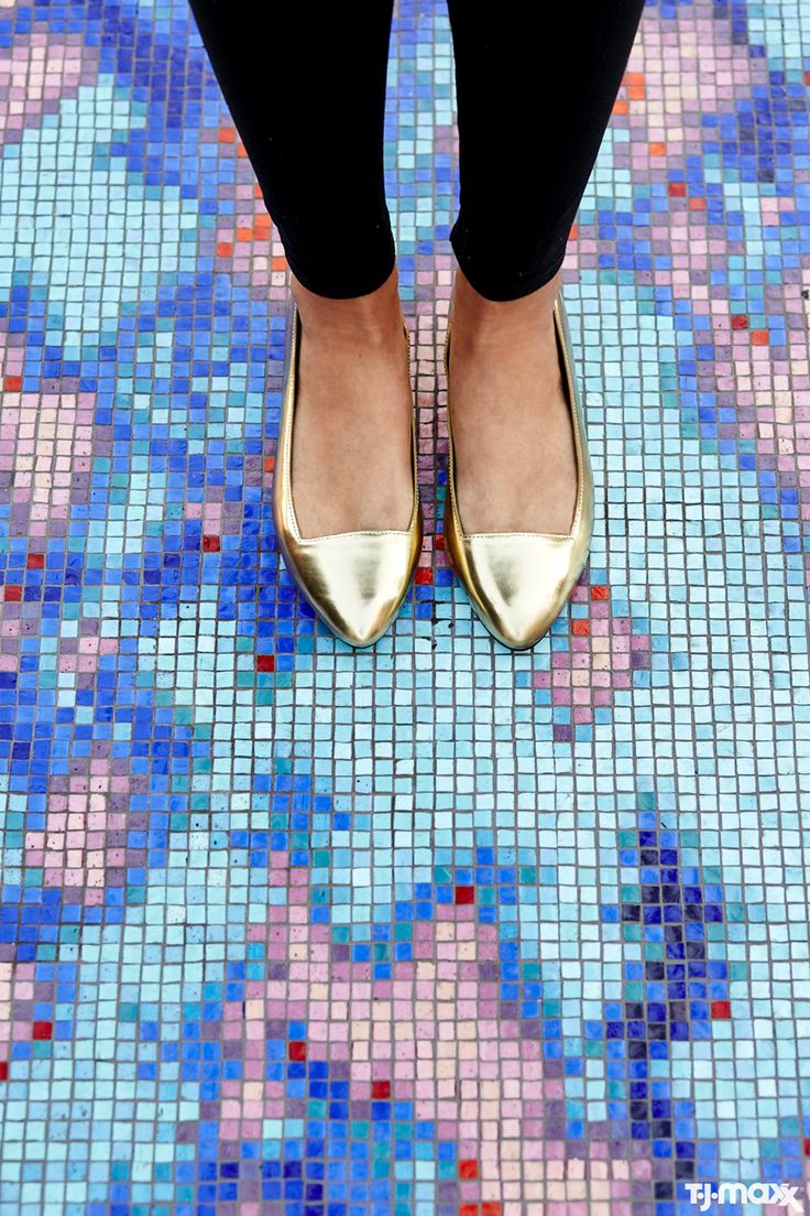 Fact: Gold Pointy Flats Can Be The Most Versatile Shoes In Your Closet. Wear