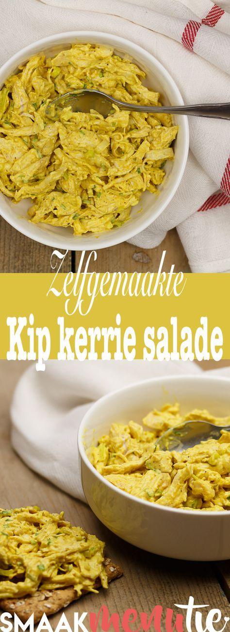 Een idee om lekker zelf lekker kipkerrie salade te maken