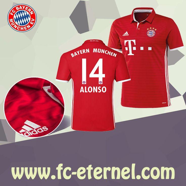 fc-eternel:Maillot Bayern Munich ALONSO 14 2016-2017 Domicile Personnalise