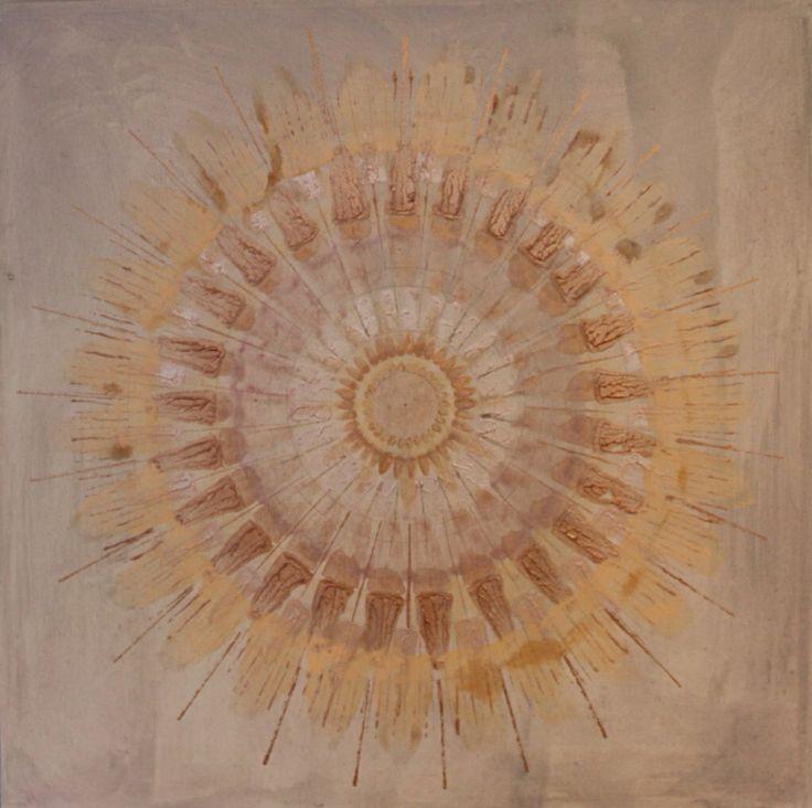 Mandala painting 60x60 cm www.rannveighelgadottir.com