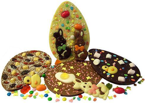 Chocolade in de vorm van een paasei