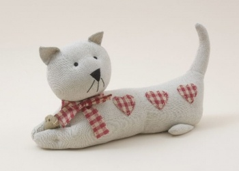 Cat Doorstop Dreadfully sweet & possibly the only cat I can have due to allergies... :(