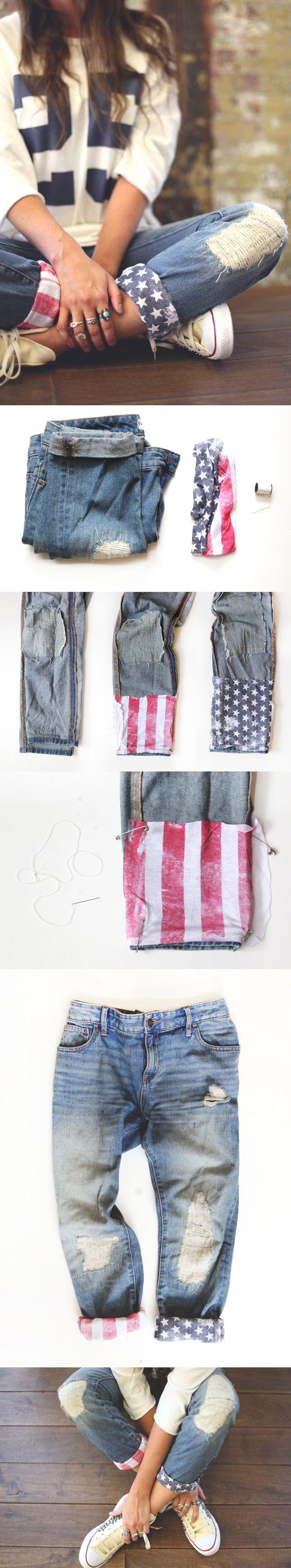 American Flag Jeans