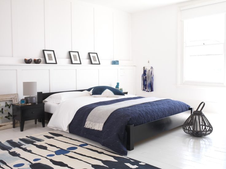 Great for small rooms and low ceilings, the Low bed won't take over your room. With its minimalist design and beautifully crafted lines, this frame will fit neatly under the eaves if its to be placed in a loft room, giving you plenty of space for your chosen furniture.