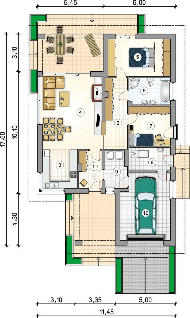 Rzut Mój dom Bursztyn CE