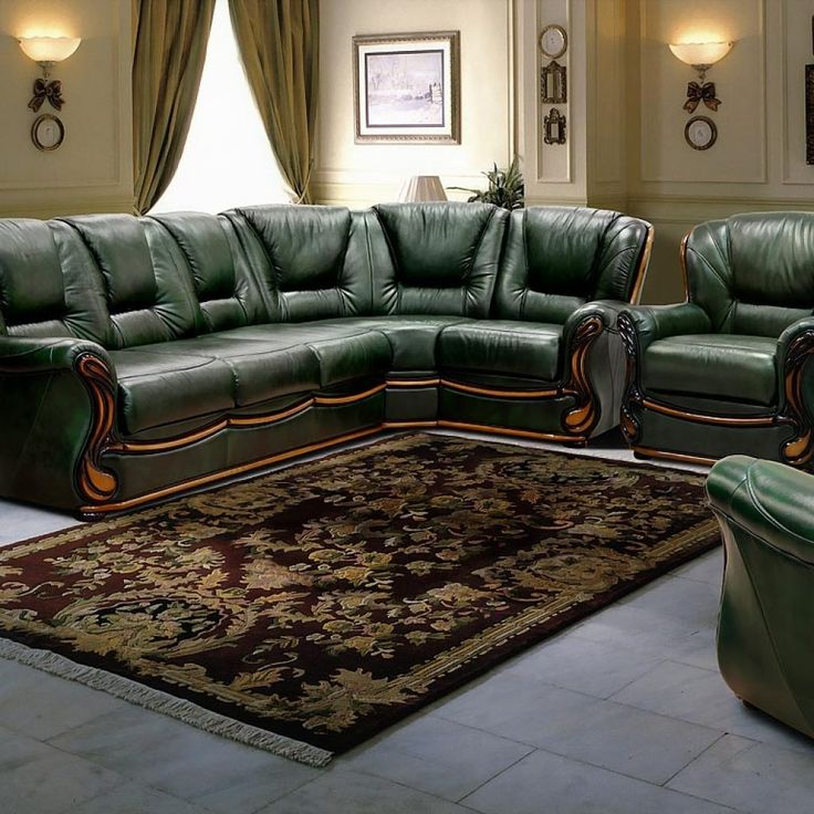 Green Leather Living Room Chair