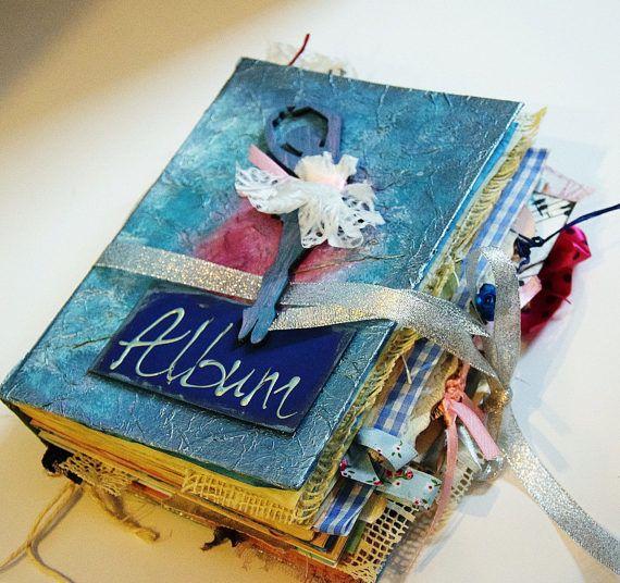 Photo album handmade love catsunique special by VictoriaWeddingArt