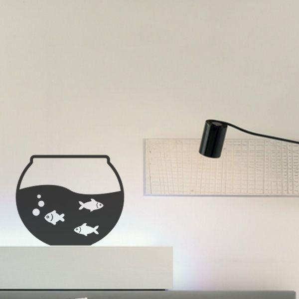 Fish Bowl Wall Sticker #wallsticker
