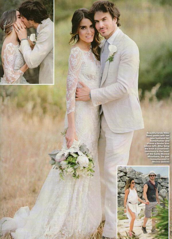 Nikki Reed and Ian Somerhalder Wedding pictures from Hello Magazine
