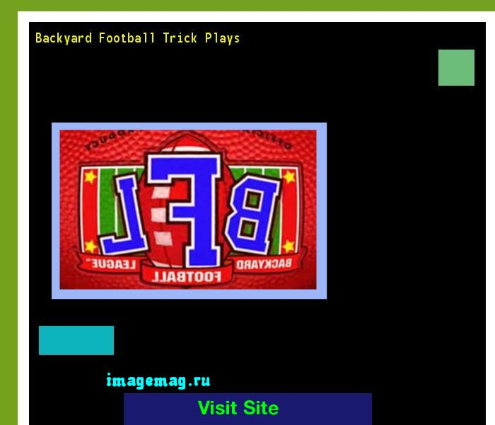 Backyard Football Trick Plays 154124 - The Best Image Search