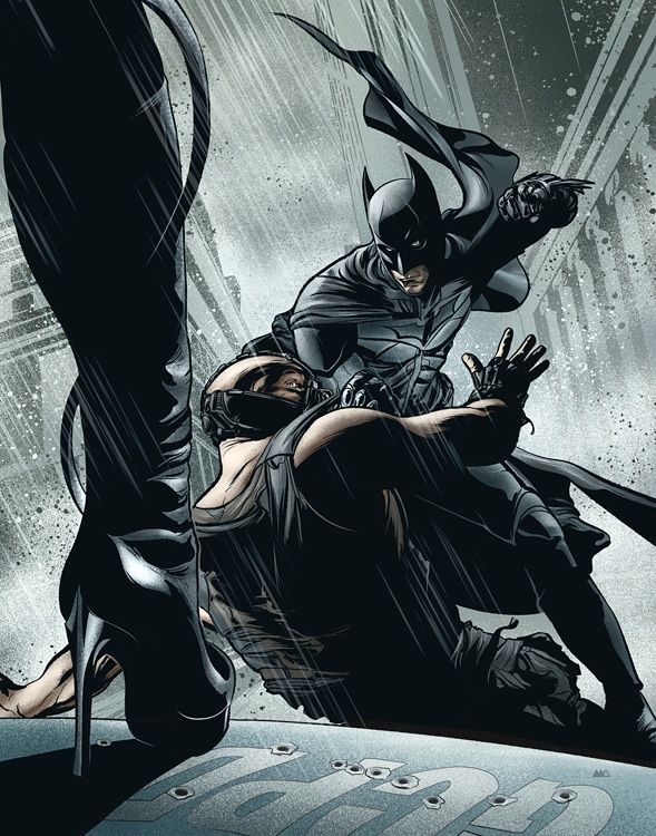 Illustration by Martin Ansin: The Dark Knight Rises, The New Yorker