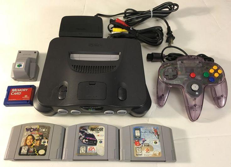 Nintendo 64 Video Game System Bundle with 3 N64 Games, Rumble PAK, Jumper PAK, and Memory Card!